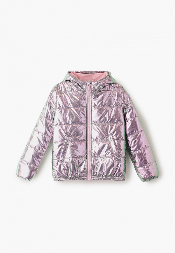 утепленные куртка kenzo для девочки, розовая