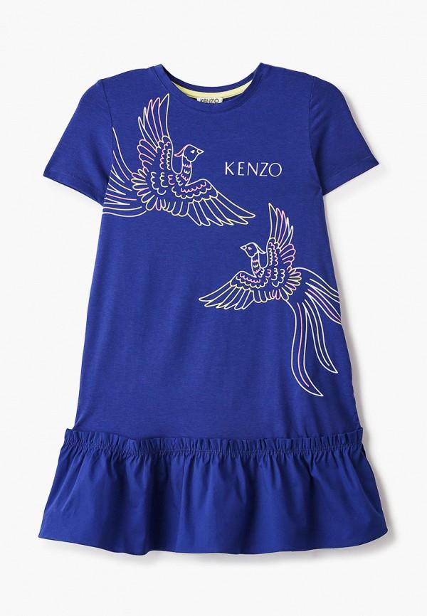 повседневные платье kenzo для девочки, синее