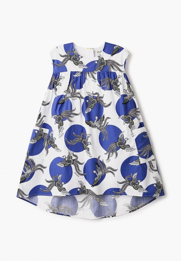 повседневные платье kenzo для девочки, белое