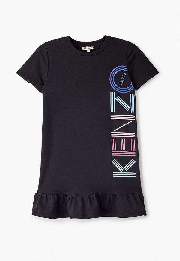 повседневные платье kenzo для девочки, черное