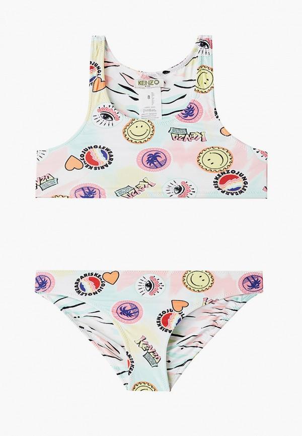 купальник kenzo для девочки, разноцветный