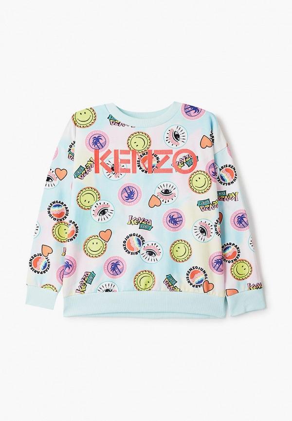 свитшот kenzo для девочки, голубой