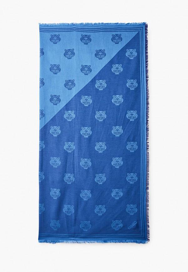 женский платок kenzo, синий