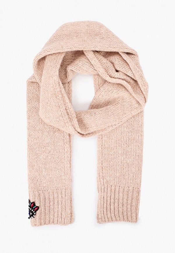 Фото - женский шарф Kenzo бежевого цвета