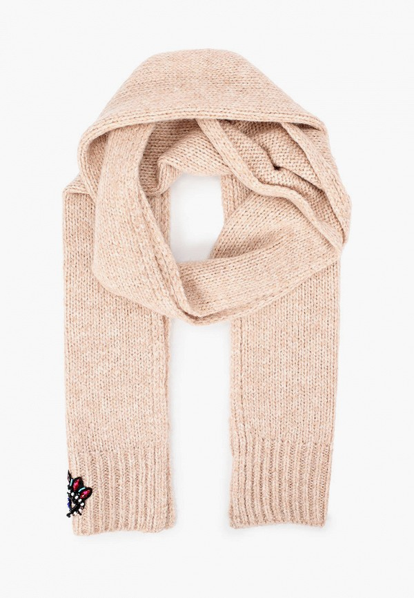 женский шарф kenzo, бежевый