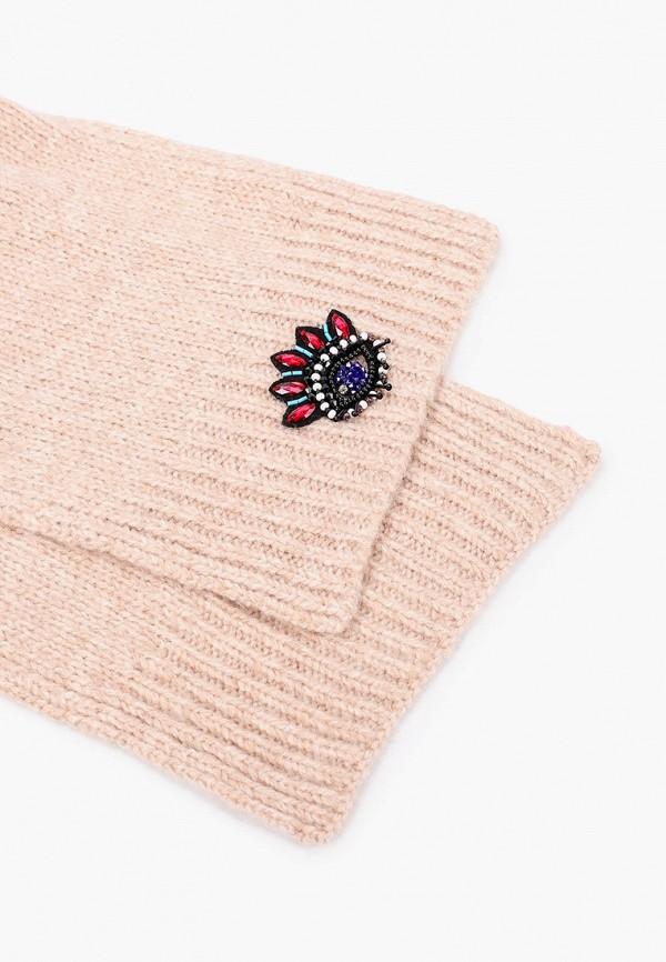 Фото 2 - женский шарф Kenzo бежевого цвета