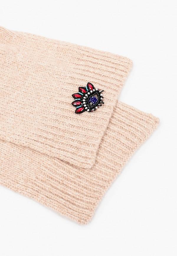Фото 4 - женский шарф Kenzo бежевого цвета