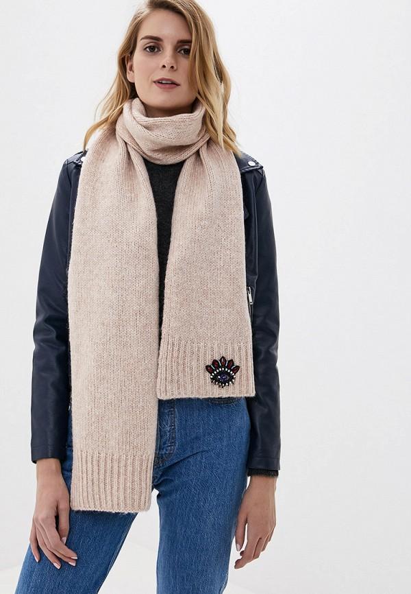 Фото 5 - женский шарф Kenzo бежевого цвета