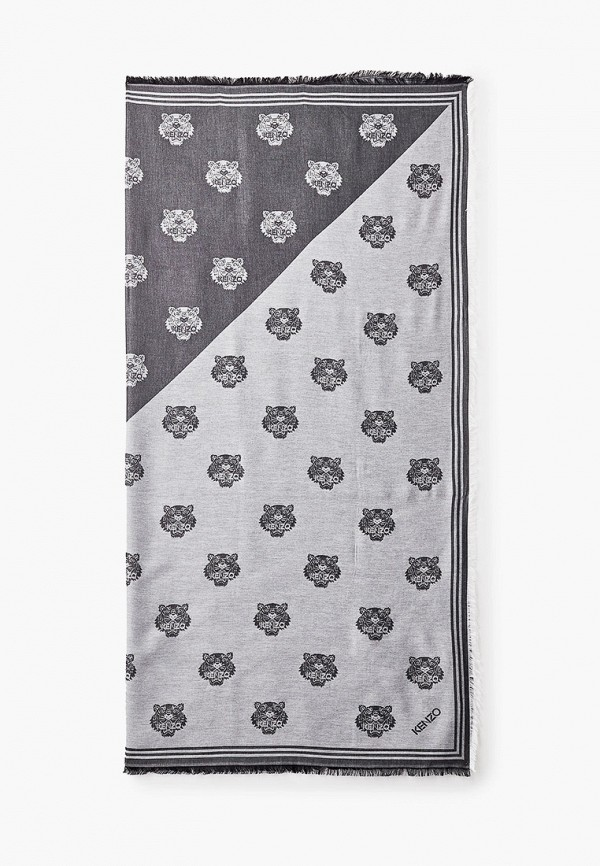 женский платок kenzo, серый
