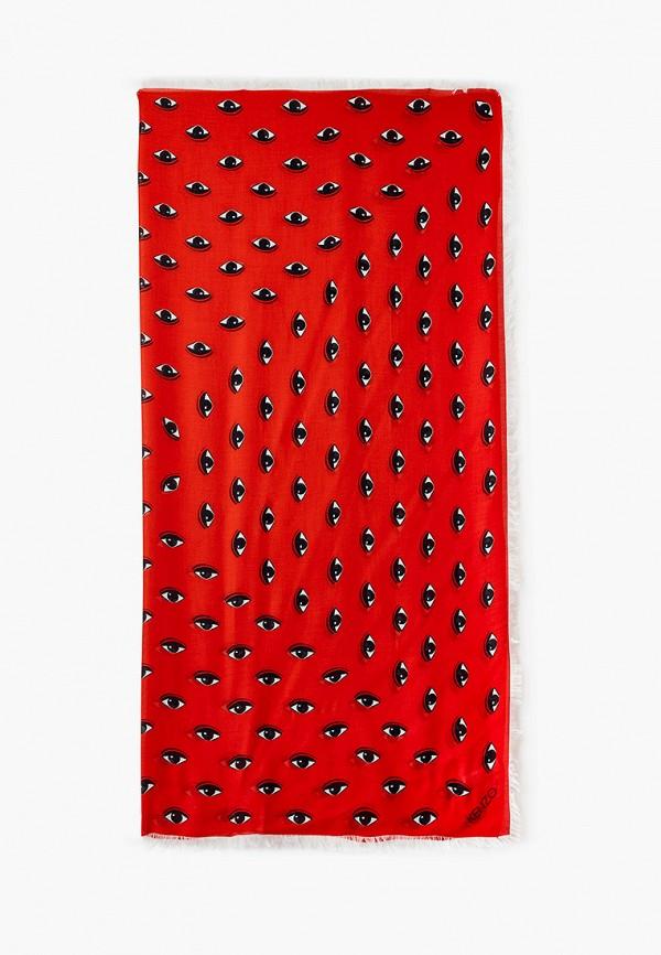 женский платок kenzo, красный