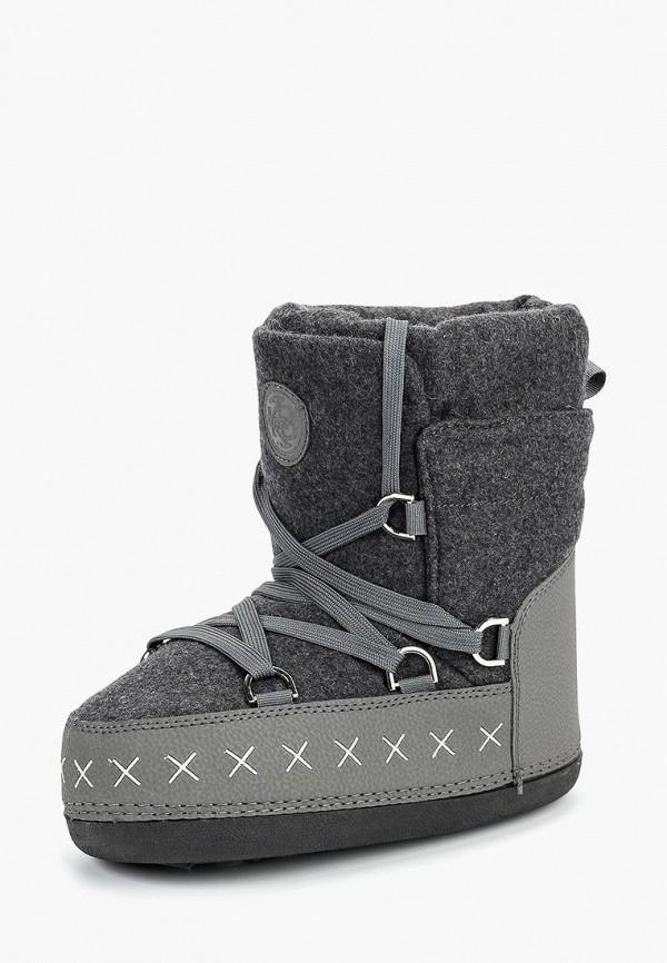женские луноходы king boots, серые