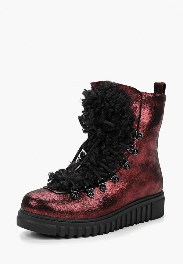 женские ботинки king boots, красные