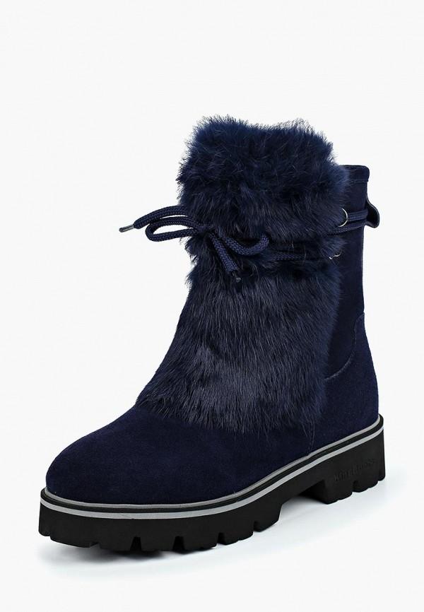 женские ботинки king boots, синие