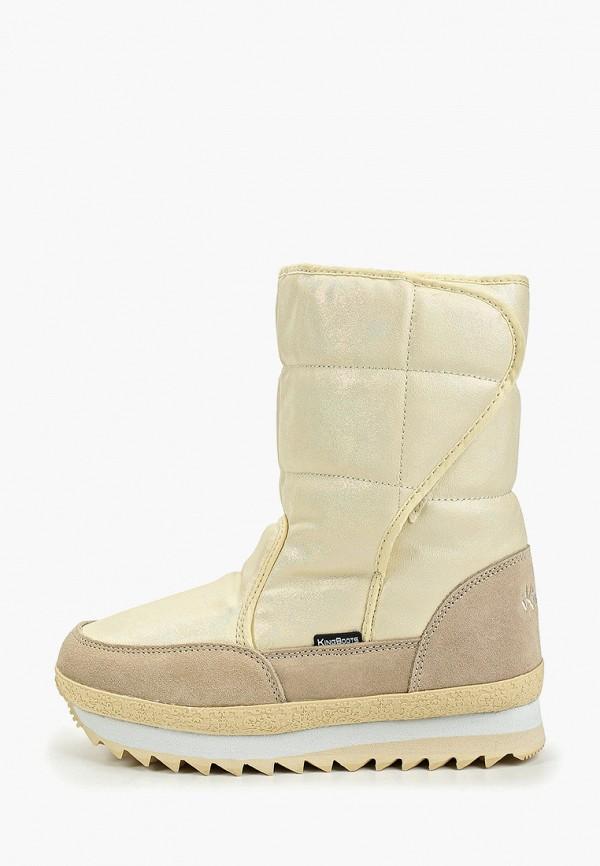 женские дутики king boots, бежевые