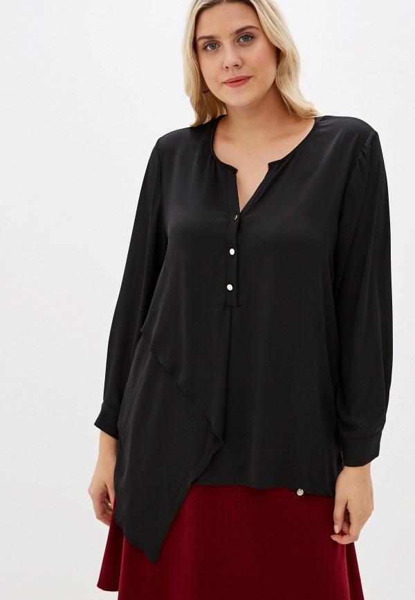 женская блузка kitana by rinascimento, черная