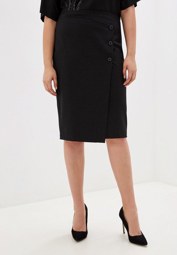 женская прямые юбка kitana by rinascimento, черная