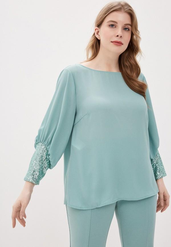 женская блузка kitana by rinascimento, бирюзовая