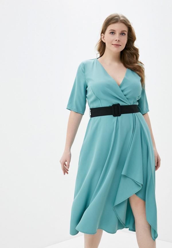 женское повседневные платье kitana by rinascimento, бирюзовое