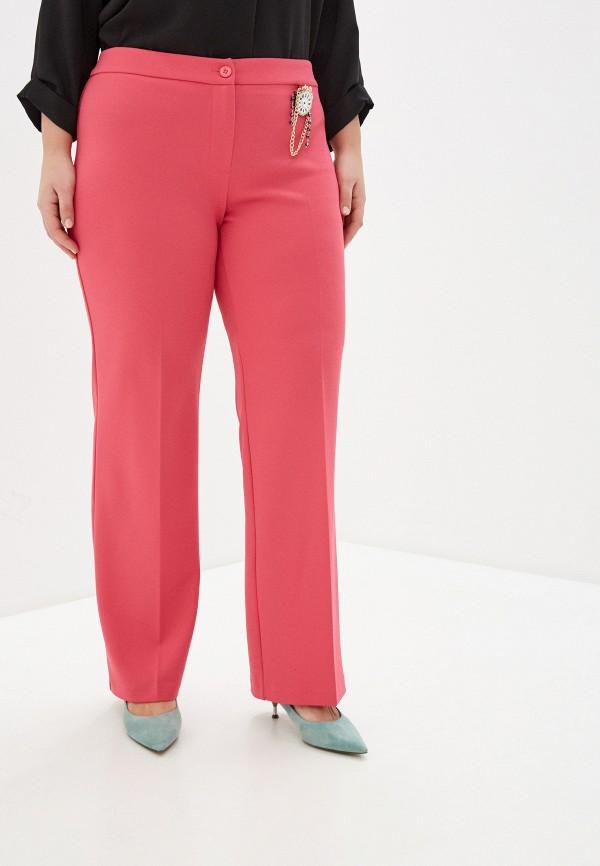 женские прямые брюки kitana by rinascimento, розовые