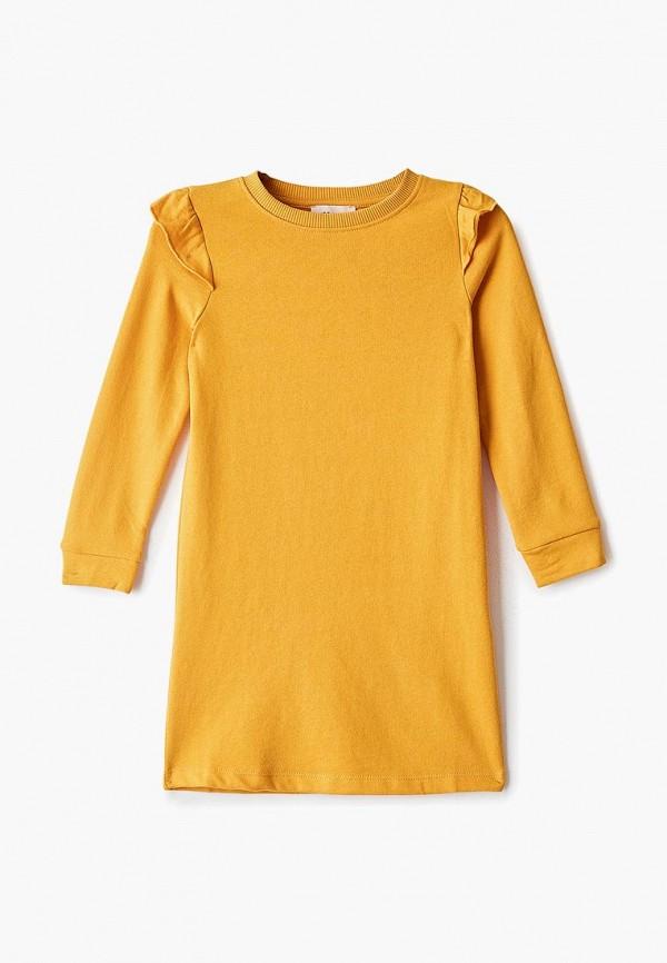повседневные платье kids only для девочки, желтое