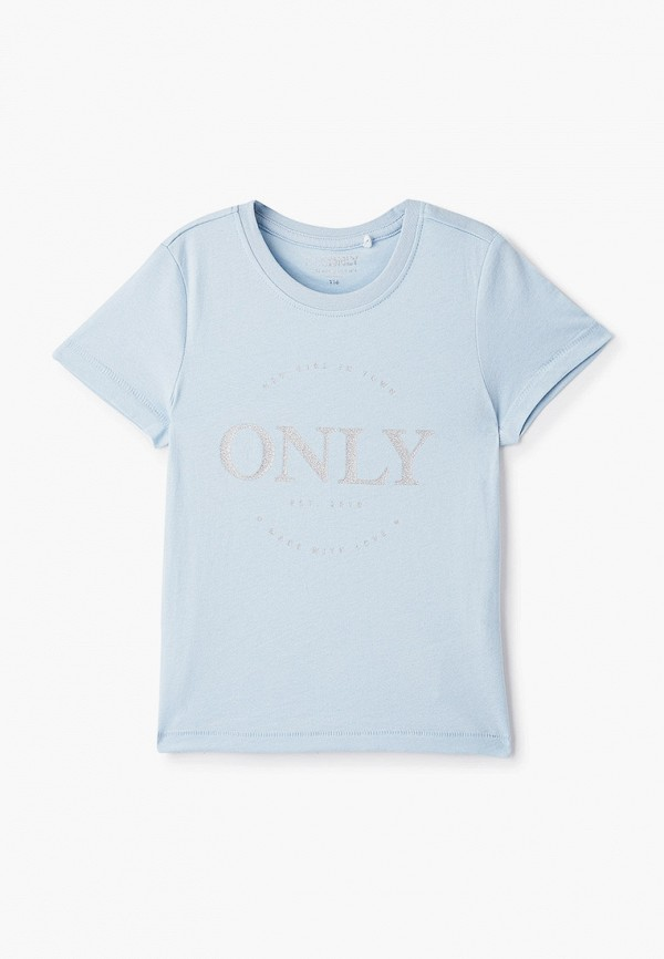 футболка с коротким рукавом kids only для девочки, голубая