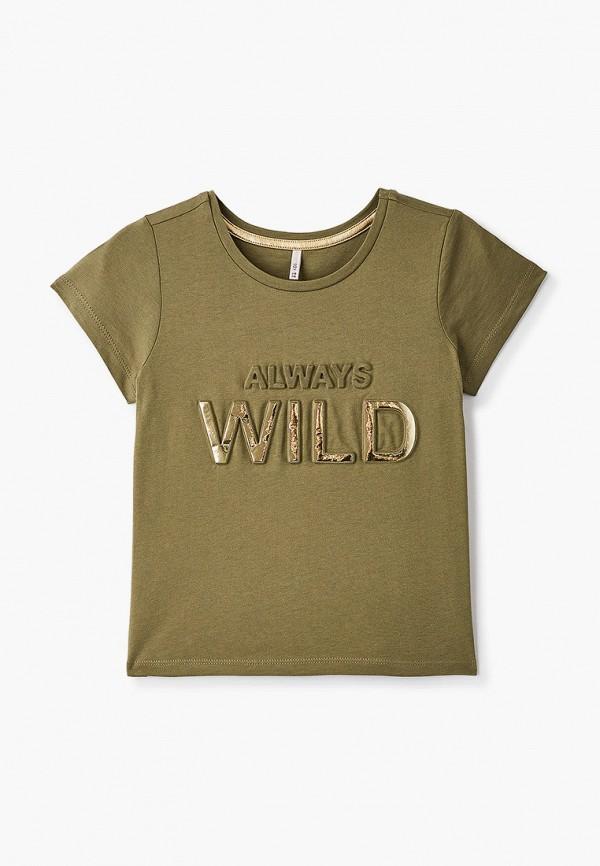 футболка с коротким рукавом kids only для девочки, хаки