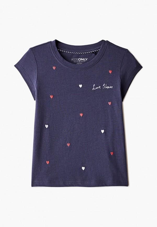 футболка с коротким рукавом kids only для девочки, синяя
