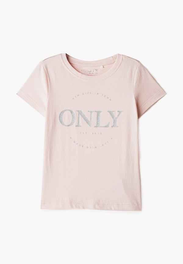 футболка с коротким рукавом kids only для девочки, розовая