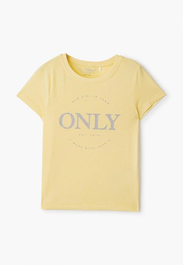 футболка с коротким рукавом kids only для девочки, желтая