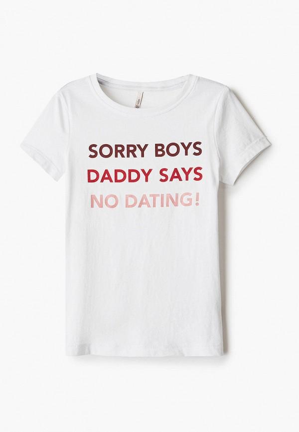 футболка с коротким рукавом kids only для девочки, белая