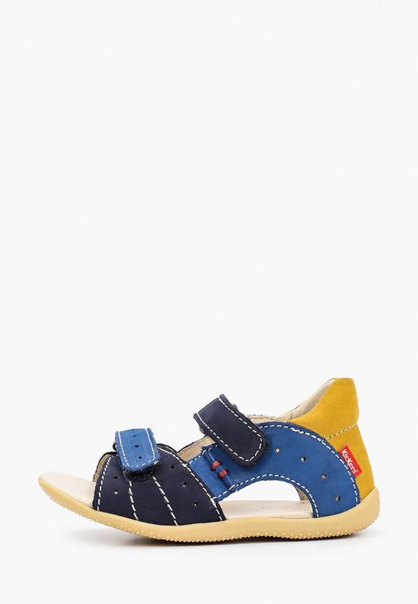 сандалии kickers для мальчика, разноцветные