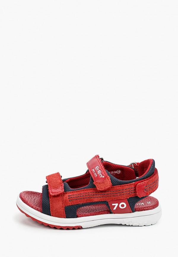 сандалии kickers для мальчика, красные