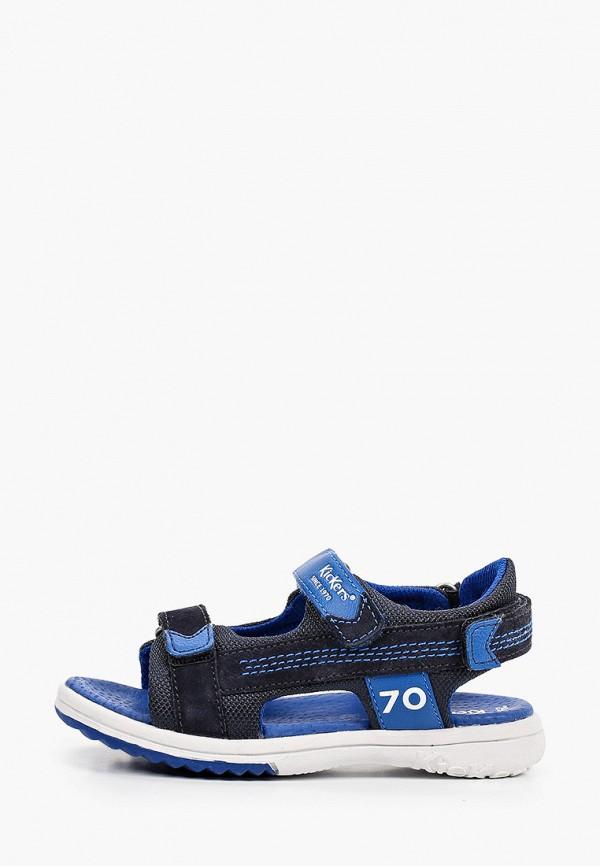 сандалии kickers для мальчика, синие
