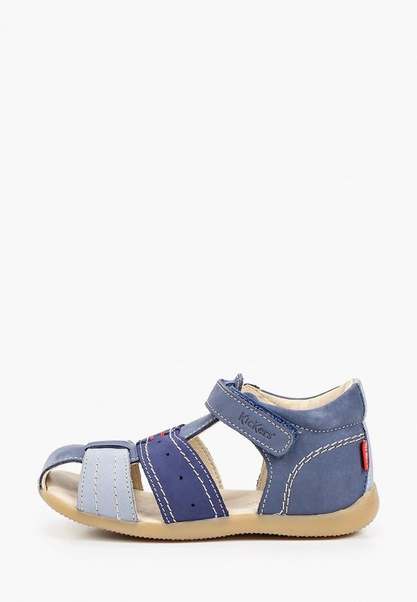 сандалии kickers для мальчика, голубые