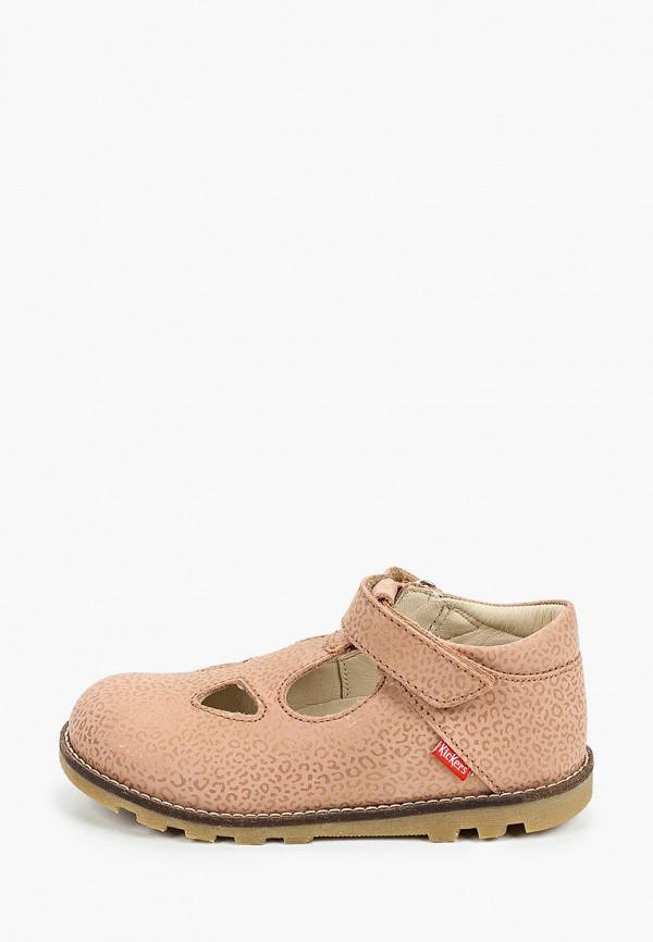 туфли kickers для девочки, бежевые
