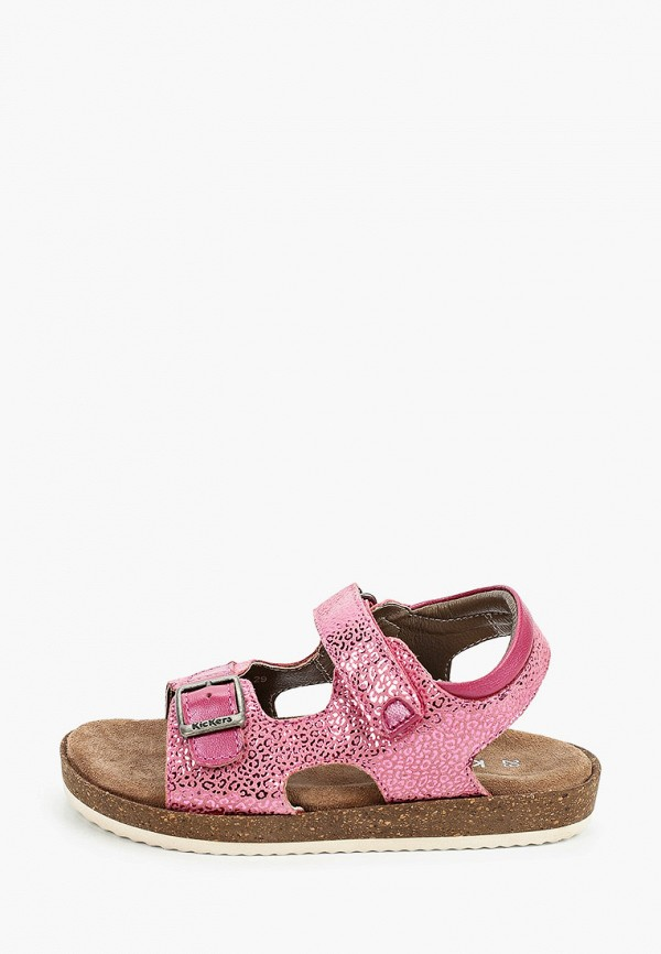 сандалии kickers для девочки, розовые