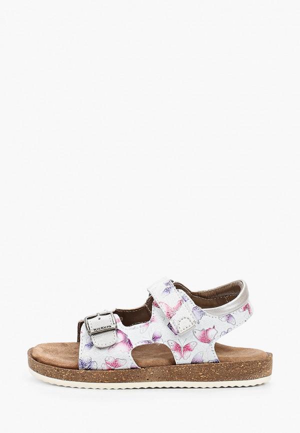 сандалии kickers для девочки, белые