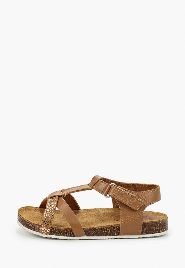 сандалии kickers для девочки, коричневые
