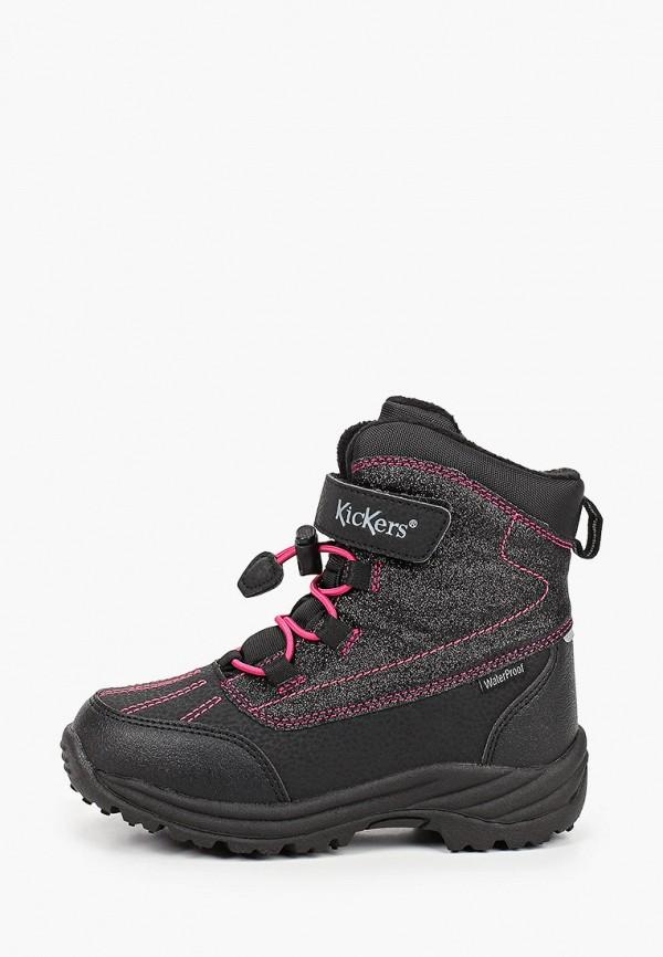 ботинки kickers для девочки, черные