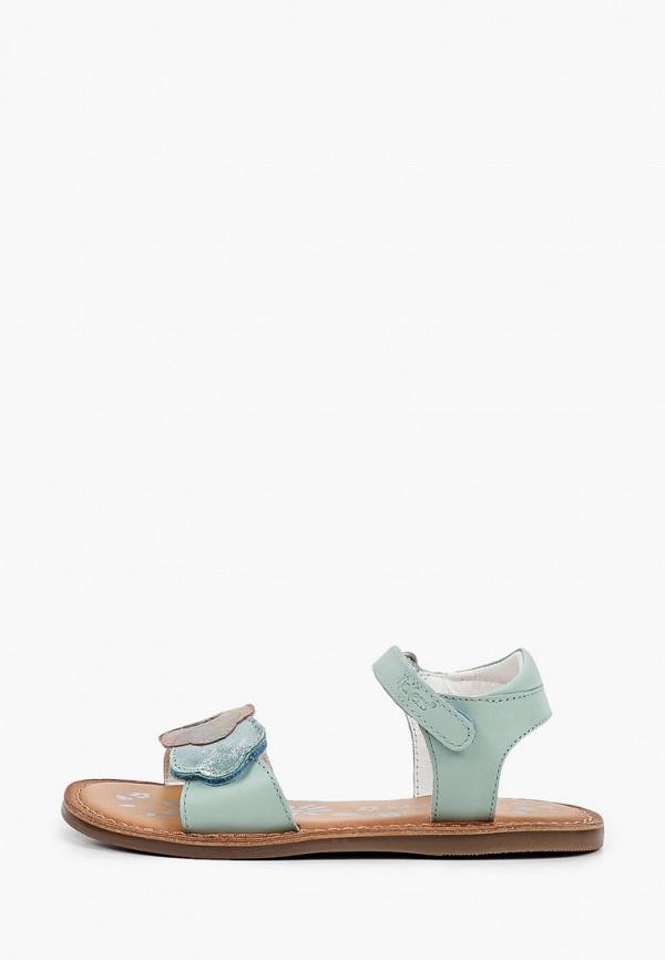 сандалии kickers для девочки, бирюзовые