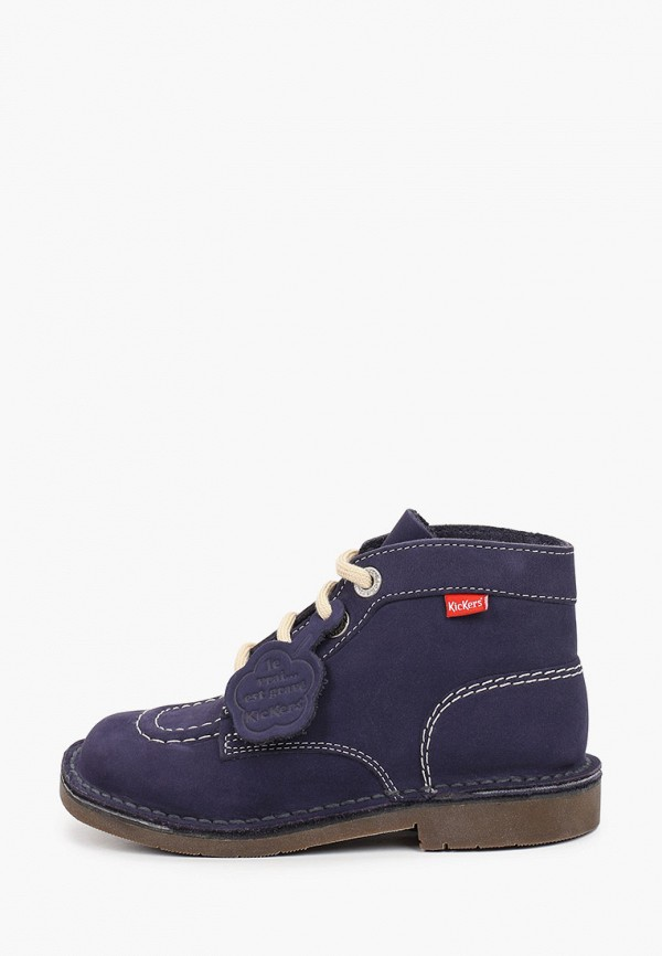 ботинки kickers для девочки, синие