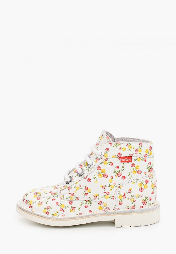ботинки kickers для девочки, белые