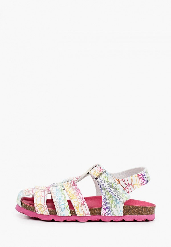 сандалии kickers для девочки, разноцветные