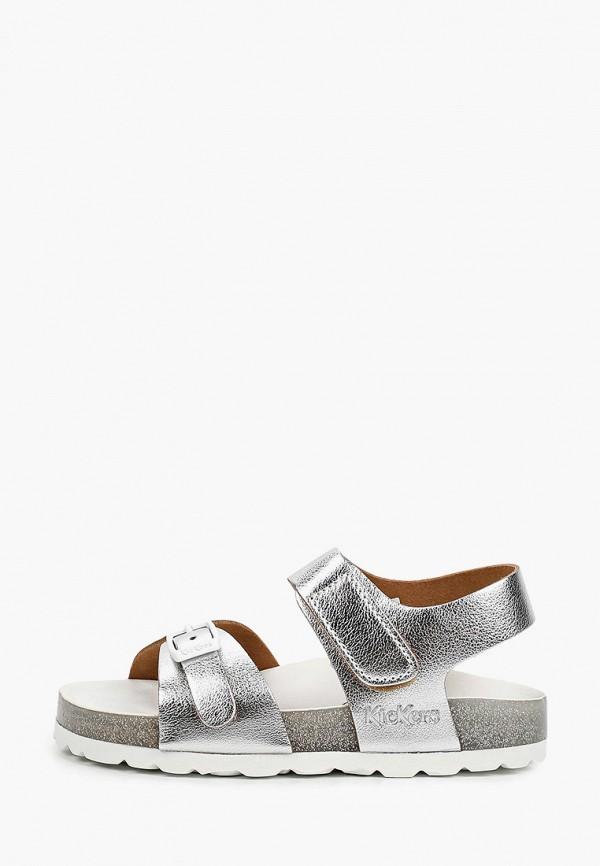 сандалии kickers для девочки, серебряные