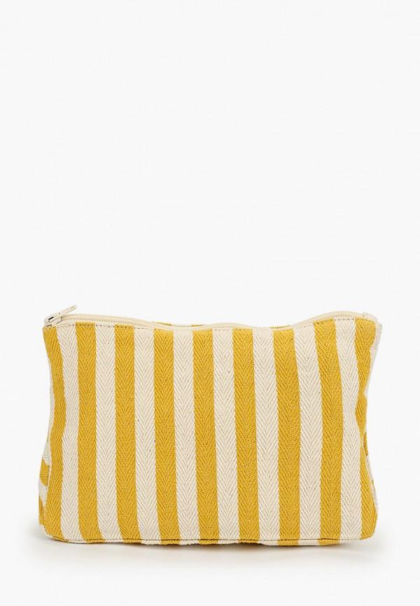 женский клатч koton, желтый