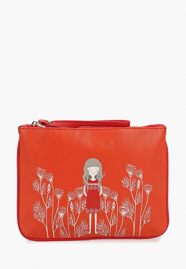 женский клатч koton, красный