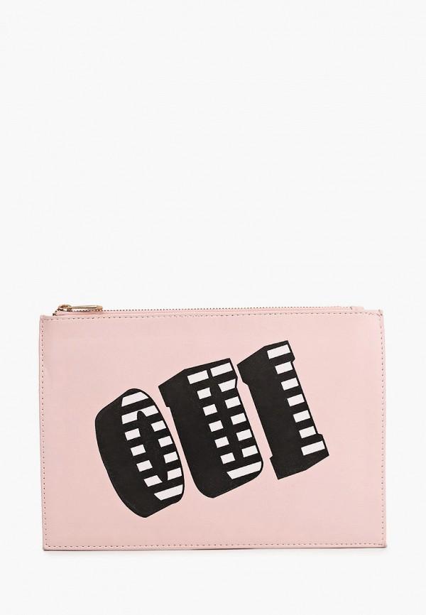 женский клатч koton, розовый