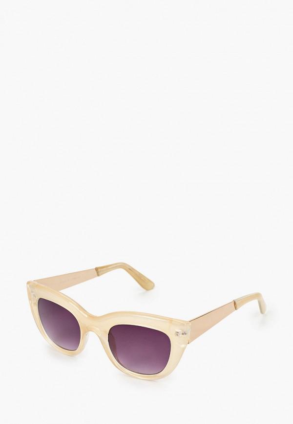 женские круглые солнцезащитные очки koton, бежевые