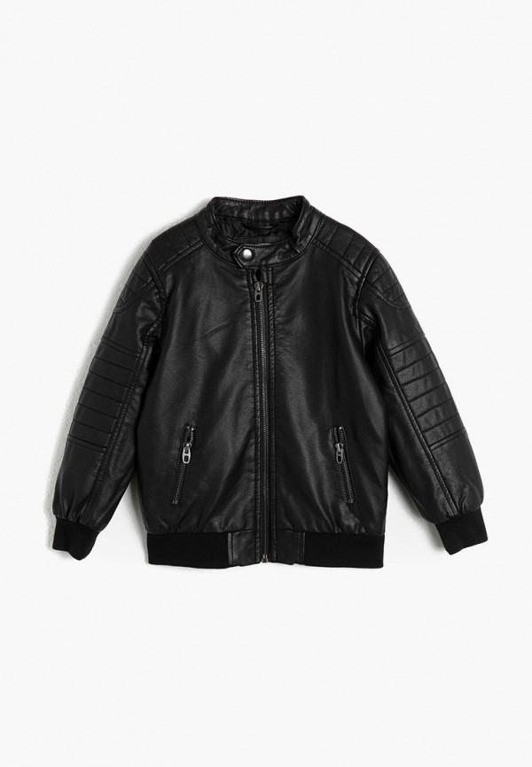 куртка koton для мальчика, черная