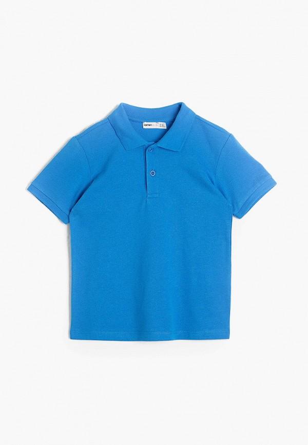 поло koton для мальчика, голубое